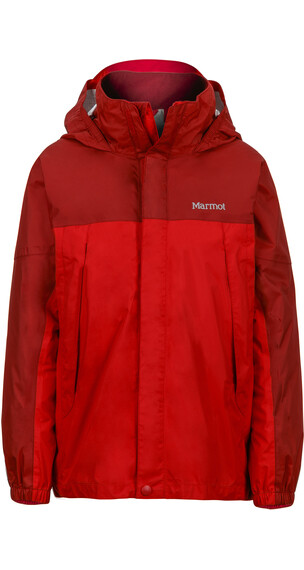 Marmot Boys PreCip Jacket Team Red/Dark Crimson